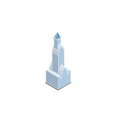isolated tower isometric cityscape element vector image