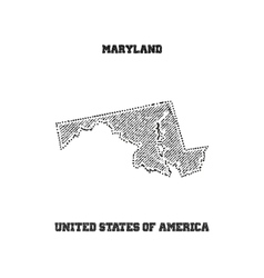 Label with map of maryland vector image