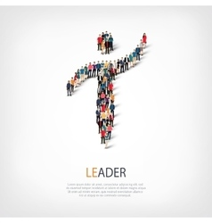 Leader people symbol vector