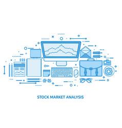 market trade business trading platform account vector image