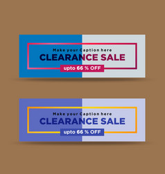 Modern blue clearance sale banners vector