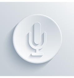 Modern microphone icon vector