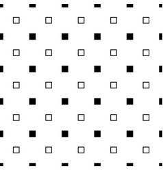Monochrome abstract seamless square pattern vector