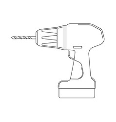 monochrome of the screwdriver vector image