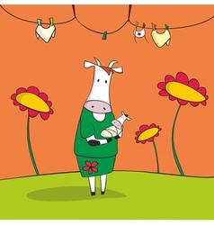 Mother cow vector