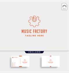 music gear logo design studio headphone vector image