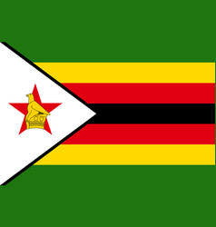 National flag of zimbabwe vector
