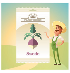 Pack of swede seeds vector