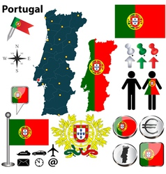 Portugal map vector image