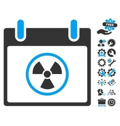 Radioactive Calendar Day Icon With Bonus vector