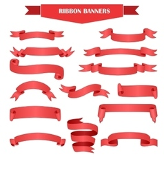 Ribbon banner set vector image
