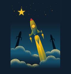 rocket launch texture style concept vector image