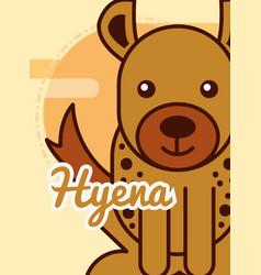 safari animal card vector image