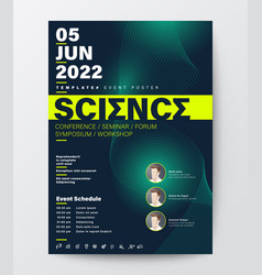 Science conference business design template vector