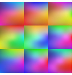 set of colorful background vector image