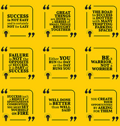 Set of motivational quotes about action hard work vector