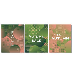 set of unique autumn geometric background vector image