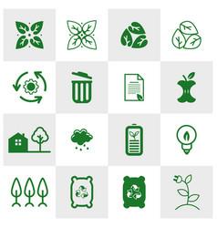 Set world environment icons logo concepts vector