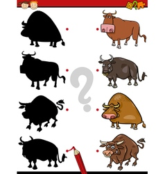 shadows task with animals vector image