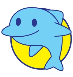 Smile Dolphin vector