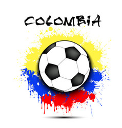 soccer ball and colombia flag vector image