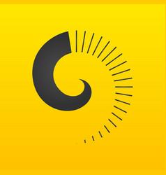 spiral design logo out of lines round logo design vector image
