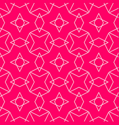 tile pattern or pink and white background vector image