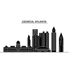 Usa georgia atlanta architecture city vector