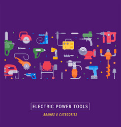 Website banner and landing page electric power vector