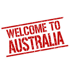 Welcome to australia stamp vector