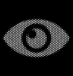 white pixel eye icon vector image