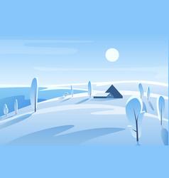 winter picturesque landscape vector image