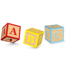 Word ABC written with alphabet blocks vector image
