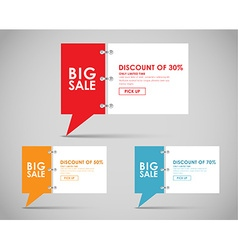 Banners with quote bubble for big sale vector image vector image