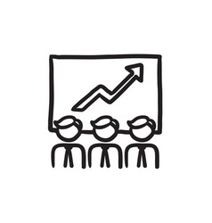 Business growth sketch icon vector