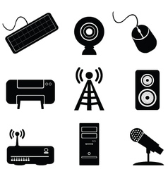 digital music icons vector image vector image