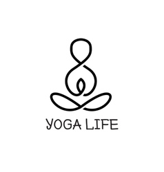 minimalistic yoga logotype Health logo vector image vector image