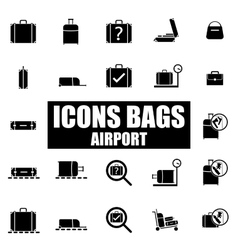 Set of icons airport vector image