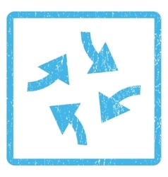 Swirl arrows icon rubber stamp vector