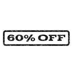 60 percent off watermark stamp vector