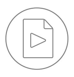 Audio file line icon vector image