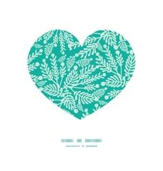 Emerald green plants heart silhouette vector
