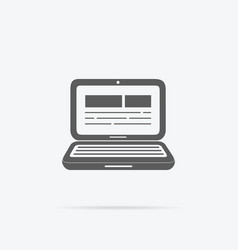 Laptop Icon Design Flat vector image vector image