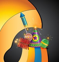 attractive diwali crackers background vector image
