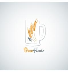beer mug barley design background vector image vector image