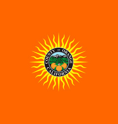 flag of orange county california usa vector image vector image