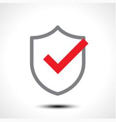 shield check mark logo icon vector image vector image