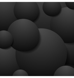 Abstract black circles tech background vector image vector image