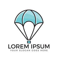 air balloon logo vector image vector image