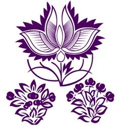 decorative flower emblem vector image